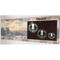 INDIA: Republic, 3-coin proof set, 1999-M