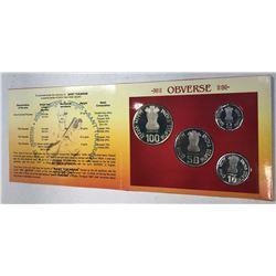 INDIA: Republic, 4-coin proof set, 2002(k)