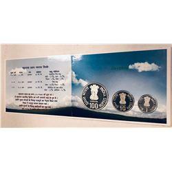 INDIA: Republic, 3-coin proof set, 2003-M