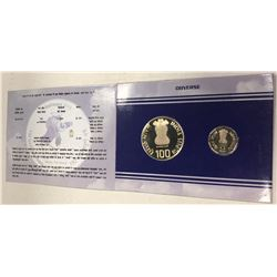 INDIA: Republic, 2-coin proof set, 2003(k)