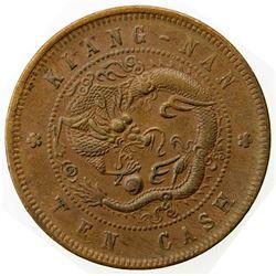 KIANGNAN: Kuang Hsu, 1875-1908, AE 10 cash, CD1905. F-VF