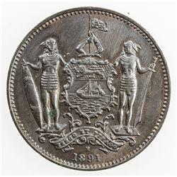 BRITISH NORTH BORNEO: AE cent, 1891-H. UNC