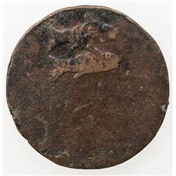 BURMA: Bodawpaya, 1782-1819, AE 1/2 pya (4.55g), CS1143 (1782). VF