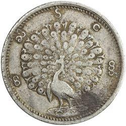 BURMA: Mindon, 1853-1858, AR kyat (rupee), CS1214. VF