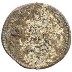 BURMA: Mindon, 1853-1878, lead 1/16 pe (= 1/8 pya) (11.63g), BE1231 (1869). VF