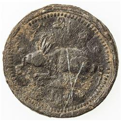 BURMA: Mindon, 1853-1878, lead 1/8 pya (1/32 pe) (6.21g), BE1230 (1868). VG-F