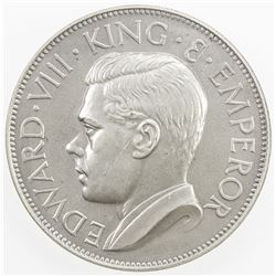 CEYLON: Edward VIII, 1936, AR crown, 1936. UNC