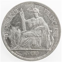 FRENCH INDOCHINA: AR piastre, 1900-A. AU