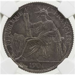 FRENCH INDOCHINA: 20 cents, 1901-A. NGC MS63