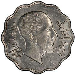 IRAQ: Faisal I, 1921-1933, 4 fils, 1933/AH1352. PCGS MS62
