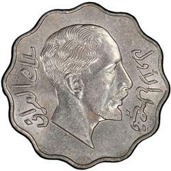 IRAQ: Faisal I, 1921-1933, 10 fils, 1933/AH1352. PCGS MS62