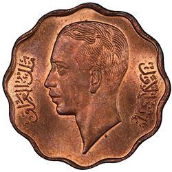 IRAQ: Ghazi I, 1933-1939, AE 10 fils, 1938/AH1357. PCGS MS64