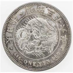 JAPAN: Meiji, 1868-1912, AR yen, year 36 (1903). AU