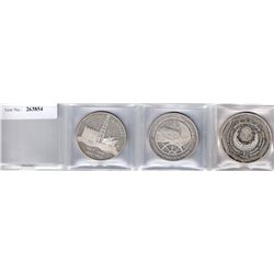 KUWAIT: LOT of 3 silver commemorative proof issues