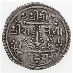PATAN: Jaya Vishnu Malla, 1729-1745, AR mohar (5.54g), NS849. VF