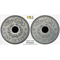 SYRIA: French Mandate, zinc piastre, 1940. PCGS MS64