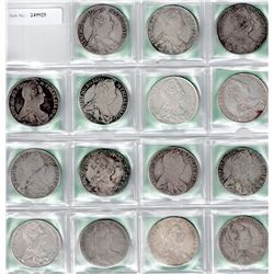 AUSTRIA: COLLECTION of 15 Maria Theresa restrike thalers
