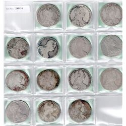 AUSTRIA: COLLECTION of 14 Maria Theresa restrike thalers