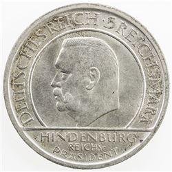 GERMANY: Weimar Republic, AR 5 marik, 1929-A. AU