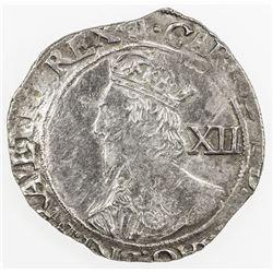 ENGLAND: Charles I, 1625-1649, AR shilling (5.72g), Tower mint, ND (1641-43). VF-EF