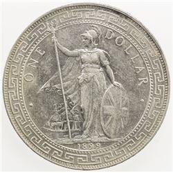GREAT BRITAIN: AR trade dollar, 1899-B. AU