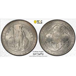 GREAT BRITAIN: AR trade dollar, 1929-B. PCGS UNC