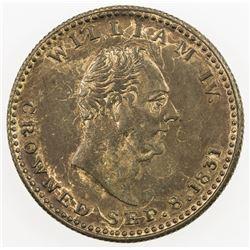 GREAT BRITAIN: token (4.06g), 1831. UNC