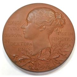 GREAT BRITAIN: AE medal (75.63g), 1897. SP