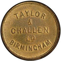 GREAT BRITAIN: brass token, ND. PCGS MS63
