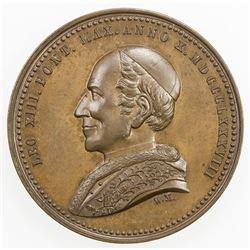 VATICAN: Leo XIII, 1878-1903, AE medal, 1888. AU