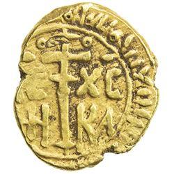 SICILY: Roger (Ruggero) II, as King, 1130-1354, AV tari (1.32g) (Messina), AH54x. VF