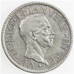 ITALY: Vittorio Emanuele III, 1900-1946, AR 20 lire, 1927-R year VI. EF