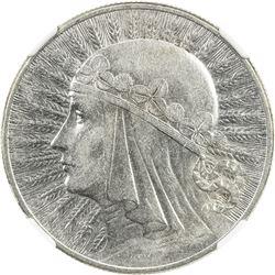 POLAND: Republic, AR 10 zlotych, 1933. NGC AU53