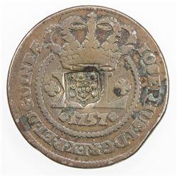 ANGOLA: Joao, as Prince Regent, 1799-1816, ND(1809). VF