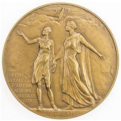 BELGIAN CONGO: AE medal (152.5g), 1925 (1937)