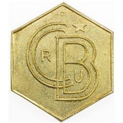 BELGIAN CONGO: Colony, token (27.37g), ND(ca. 1955). AU