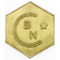 BELGIAN CONGO: Colony, token (27.18g), ND(ca. 1955). AU