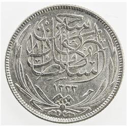 EGYPT: Hussein Kamil, 1914-1917, AR 2 piastres, 1917-H/AH1335