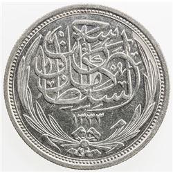 EGYPT: Hussein Kamil, 1914-1917, AR 10 piastres, 1917/AH1335. AU