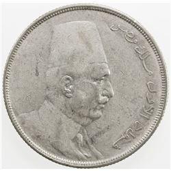 EGYPT: Fuad, as King, 1922-1936, AR 20 piastres, 1923-H/AH1341. VF-EF