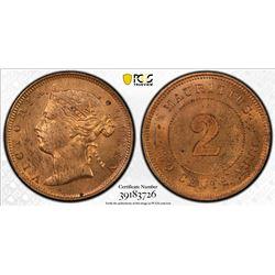 MAURITIUS: Victoria, 1837-1901, AE cent, 1888. PCGS MS63