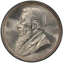 SOUTH AFRICA: Zuid Afrikaansche Republiek, AR 3 pence, 1897. PCGS MS64