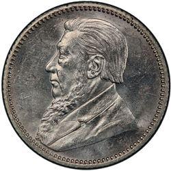 SOUTH AFRICA: Zuid Afrikaansche Republiek, AR 6 pence, 1897. PCGS MS63