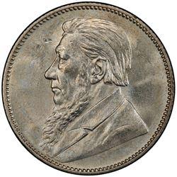 SOUTH AFRICA: Zuid Afrikaansche Republiek, AR shilling, 1897. PCGS MS62