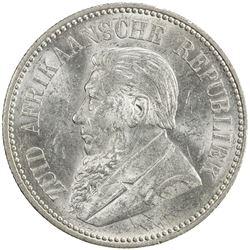 SOUTH AFRICA: Zuid Afrikaansche Republiek, AR 2 1/2 shillings, 1897. UNC