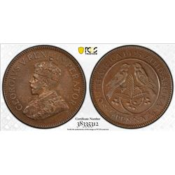 SOUTH AFRICA: George V, 1910-1936, AE farthing, 1923. PCGS PF64