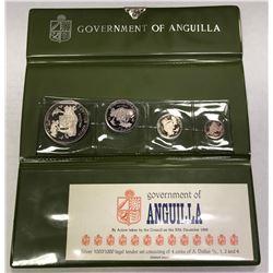 ANGUILLA: British Territory, AR proof set, 1970. PF