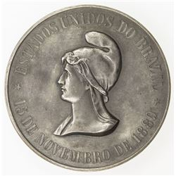 BRAZIL: AR medal (69.12g), 1891. EF-AU