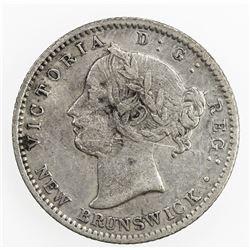 NEW BRUNSWICK: Victoria, 1837-1867, AR 10 cents, 1862. VF