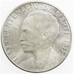 CUBA: First Republic, AR peso, 1953. UNC